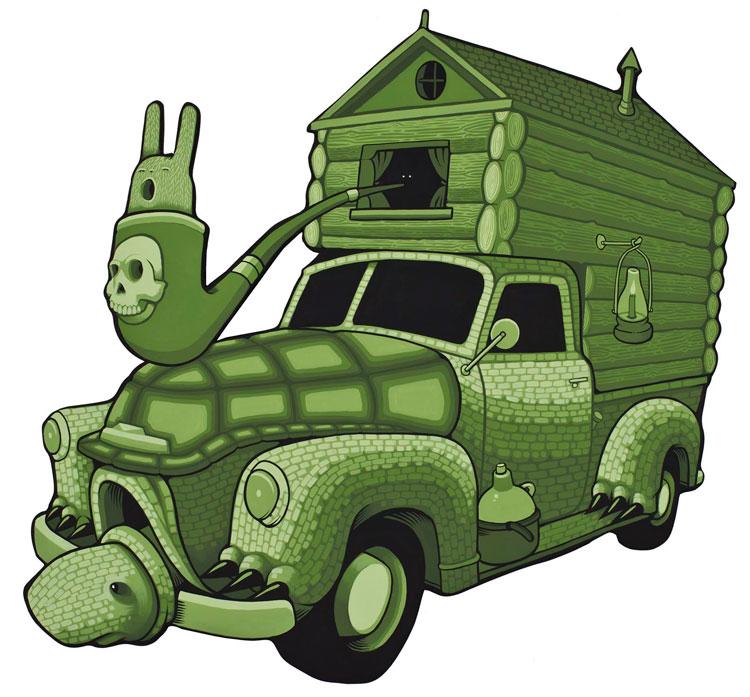 camioneta clásica en forma de tortuga por jeremy fish